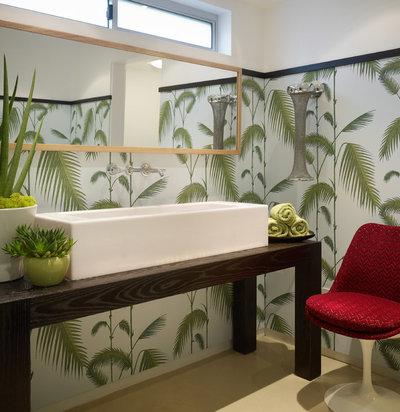 Contemporary Cloakroom Contemporary Powder Room