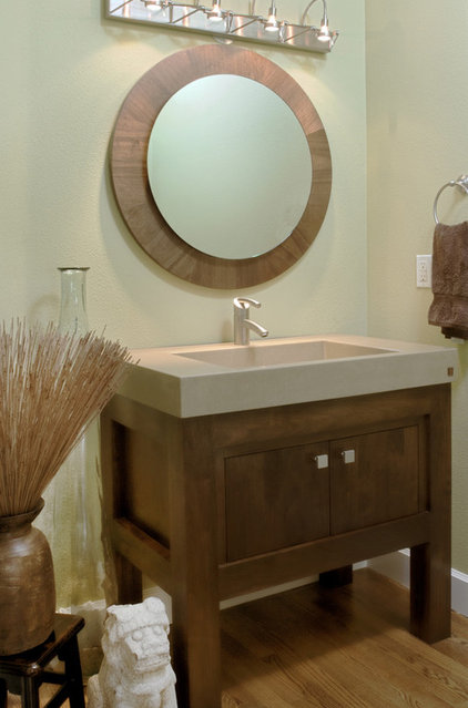 contemporary powder room by Jason Ball Interiors, LLC