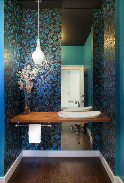 contemporary powder room by Jeff King & Company