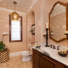 contemporary powder room by Lisa Vail Design