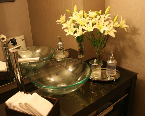Contemporary Powder Room by Lissee Interiors