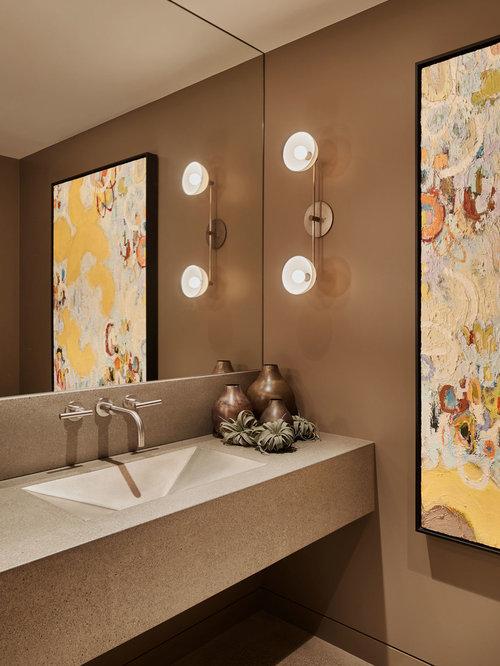 Top 20 Contemporary Powder Room Ideas Amp Designs Houzz