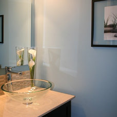 Contemporary Powder Room by Personal Touch Interiors