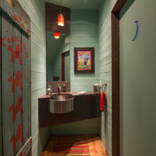 Contemporary Powder Room by Radiant Homes