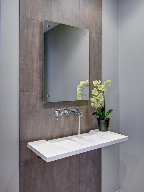 Photos et idées déco de WC et toilettes avec un carrelage marron