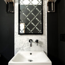Contemporary Powder Room by Shirley Meisels