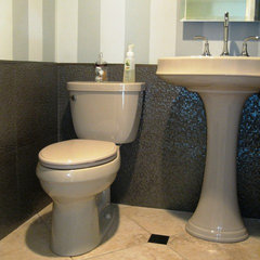 contemporary powder room by Wesson Builders