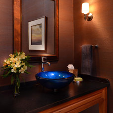 Contemporary Powder Room by Willetts Design & Associates