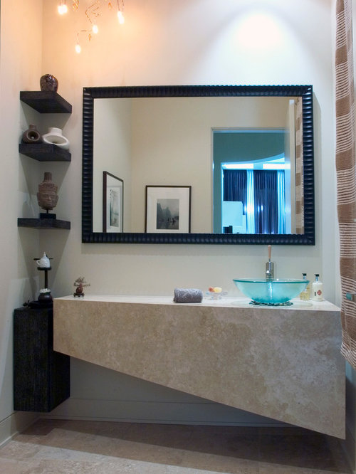 Bathroom corner shelf ideas pictures remodel and decor - Glass corner shelf for living room ...