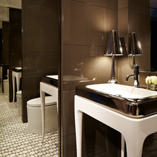Contemporary Powder Room by Allen Saunders, Inc.