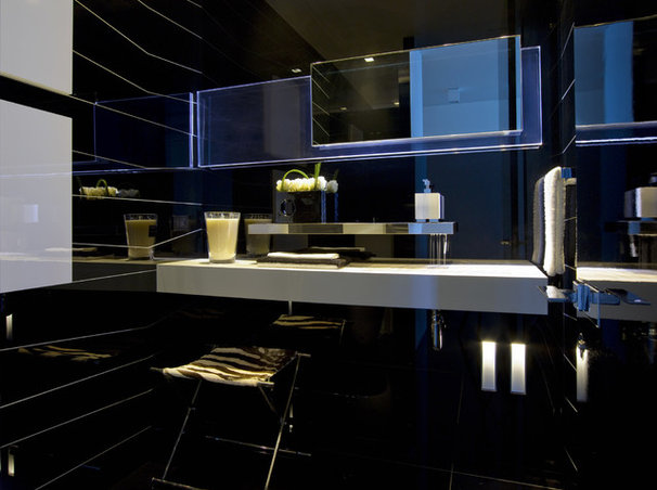 Modern Powder Room by Nieto Design Group
