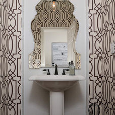 Transitional Powder Room by Kerrie L. Kelly