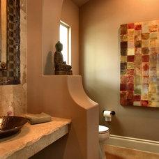 Traditional Powder Room by Boyer Custom Homes, Inc.