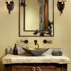 Traditional Powder Room by Elegant Cabinetry and Design