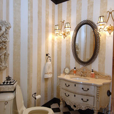 Traditional Powder Room by Periwinkle Designs
