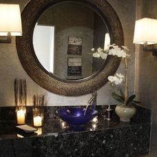 Contemporary Powder Room by Joel Dessaules Design