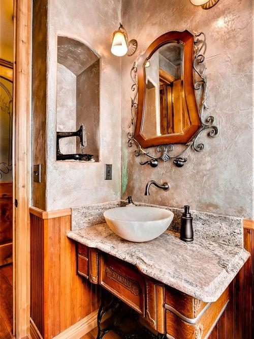 rustikale g stetoilette g ste wc mit steinplatten ideen f r g stebad und g ste wc design. Black Bedroom Furniture Sets. Home Design Ideas