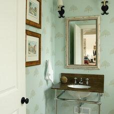 Transitional Bathroom by Leona Mozes Photography