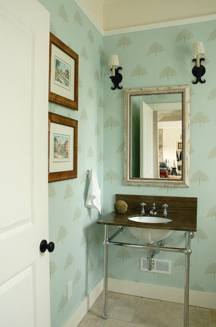 Transitional Bathroom by Leona Mozes Photography