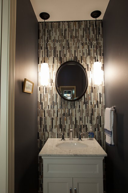 Transitional Powder Room by McDonald Remodeling