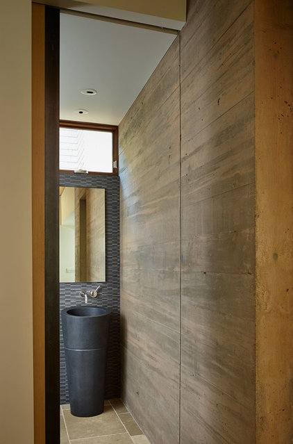 Contemporary Powder Room by DeForest Architects