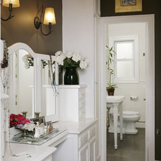 Traditional Powder Room by Amoroso Design