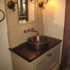 Traditional Powder Room by B&B Builders