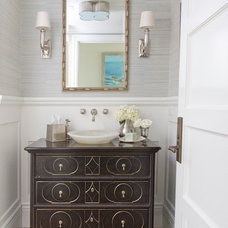 Beach Style Powder Room by Bliss Home & Design