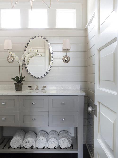 Ship-Lap Siding Powder Room Ideas & Photos   Houzz on wallpaper powder bathroom, beach powder bathroom, houzz dining room,