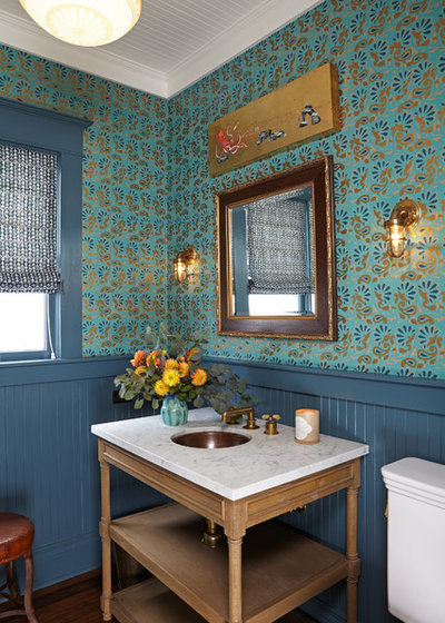Traditional Powder Room by Lewin Wertheimer