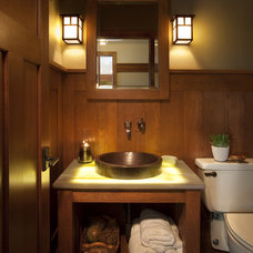 Craftsman Powder Room by Johnson Design Inc.