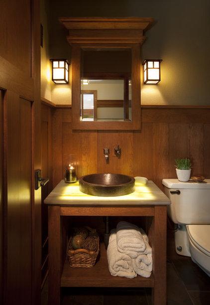 Craftsman Powder Room by Johnson Design Inc.