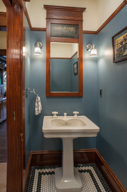 craftsman powder room by Craftsman Design and Renovation