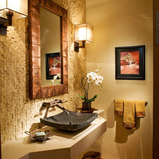 Eclectic Powder Room by Charles Cunniffe Architects Aspen