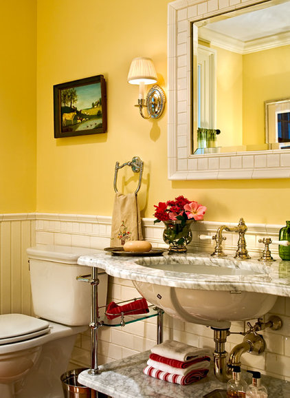 traditional powder room by Crisp Architects