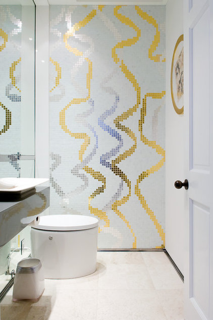 Contemporary Powder Room by Pepe Calderin Design- Modern Interior Design