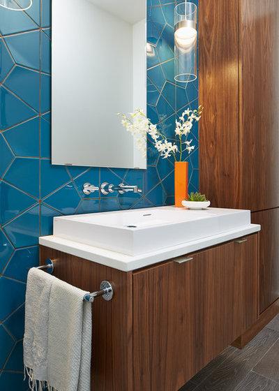 Contemporary Powder Room by Charlie & Co. Design, Ltd