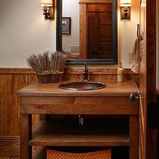Traditional Powder Room by Keystone Kitchen & Bath