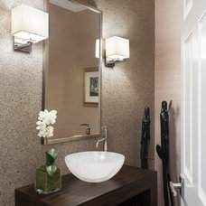 Modern Powder Room by Susan Glick Interiors