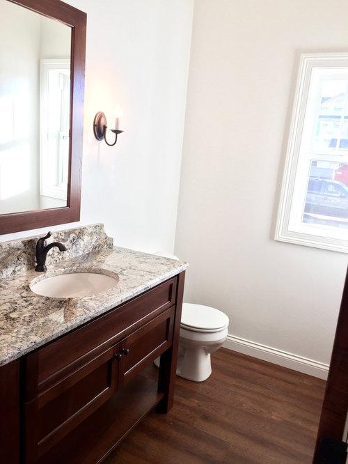 g stetoilette g ste wc mit vinyl boden ideen f r g stebad und g ste wc design houzz. Black Bedroom Furniture Sets. Home Design Ideas