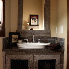 Rustic Powder Room by Lori Elms Design Group