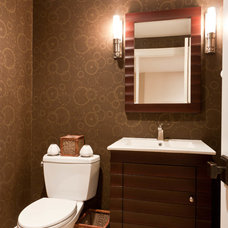 Contemporary Powder Room by Michael Robert Construction