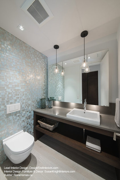 Contemporary Powder Room by Design First Interiors