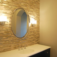 Contemporary Powder Room by King's Court Builders, Inc.