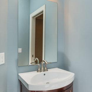 Exemple d'un WC et toilettes craftsman.