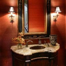 Traditional Powder Room by DMC Builders Scottsdale, L.L.C.