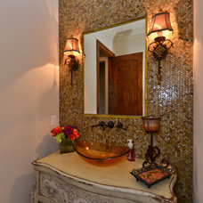 Traditional Powder Room by SEKAS HOMES LTD