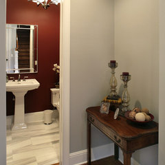 contemporary powder room by Devonshire Custom Homes