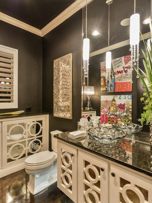 shabby chic style g stetoilette g ste wc mit granit waschbecken waschtisch ideen f r g stebad. Black Bedroom Furniture Sets. Home Design Ideas