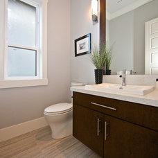 Contemporary Powder Room by Viper Homes Inc.